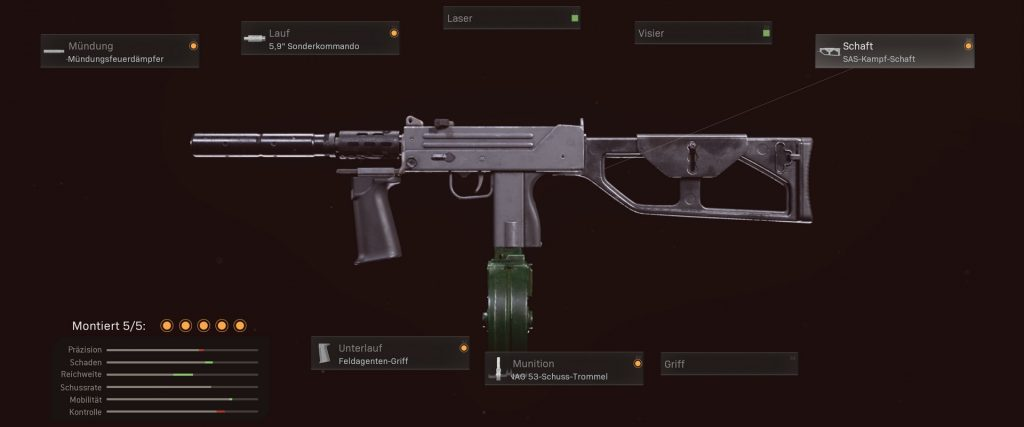 pistolas más populares de cod warzone con configuraciones de enero de 2021 - mac-10