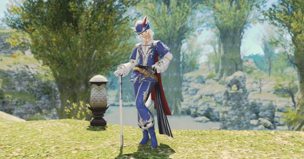 final fantasy xiv traje de arranque de mago azul