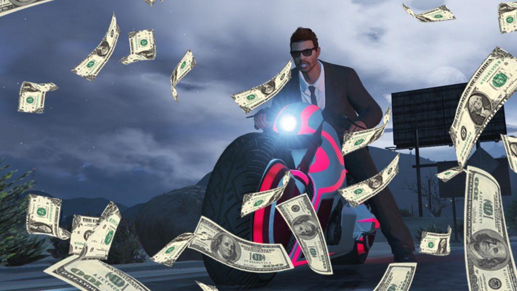 GTA Online Shotaro Motorcycle Money Money Título