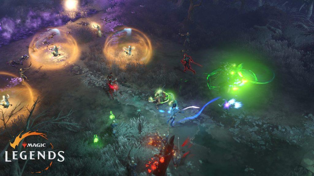 batalla de grupo de leyendas mágicas