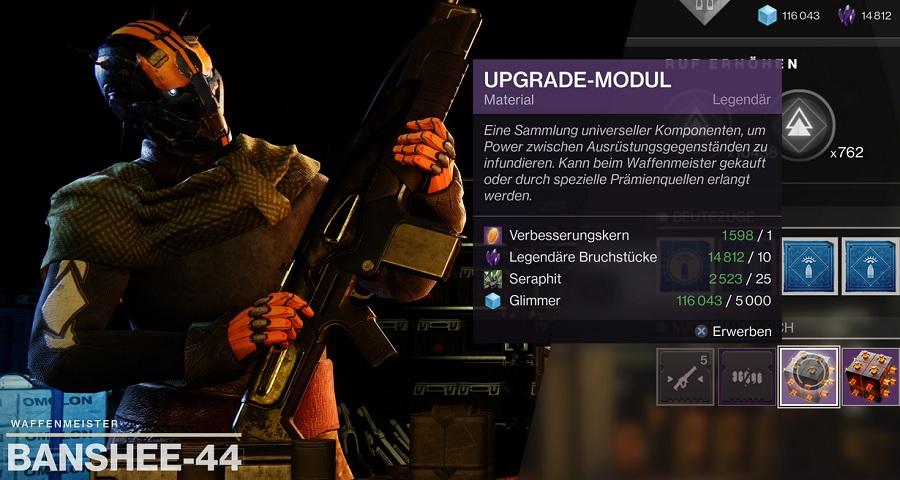 Módulo de actualización de la torre Banshee 44 Destiny 2