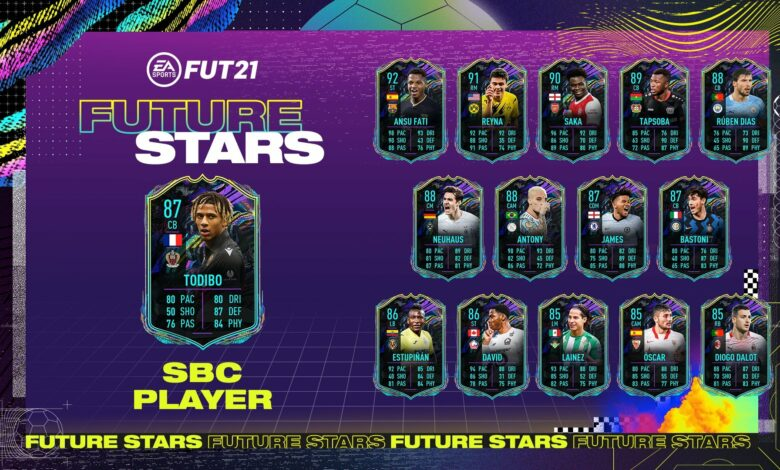 FIFA 21: Futuras estrellas de SBC Jean-Clair Todibo - Requisitos y soluciones