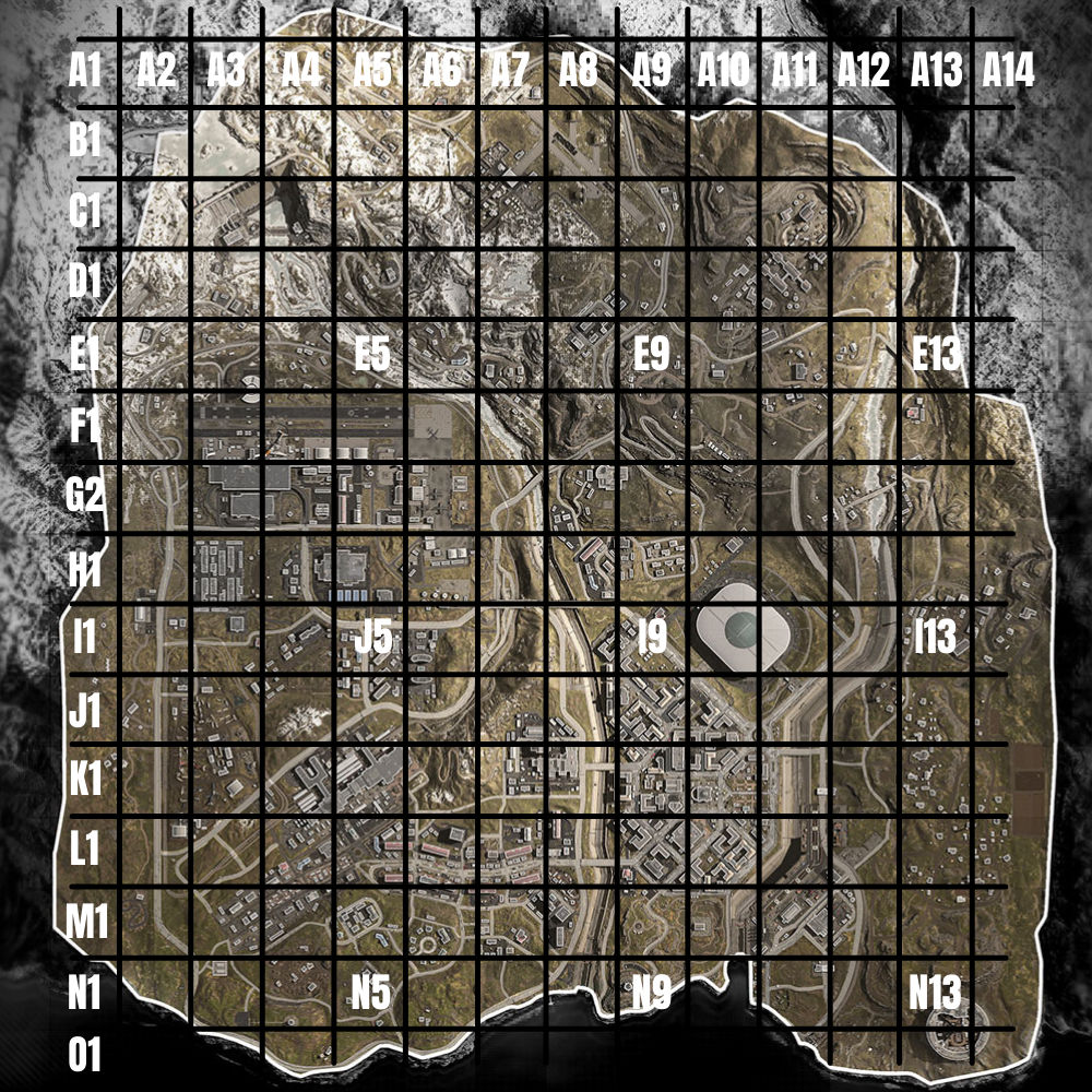 mapa de zona de guerra examen de mapa