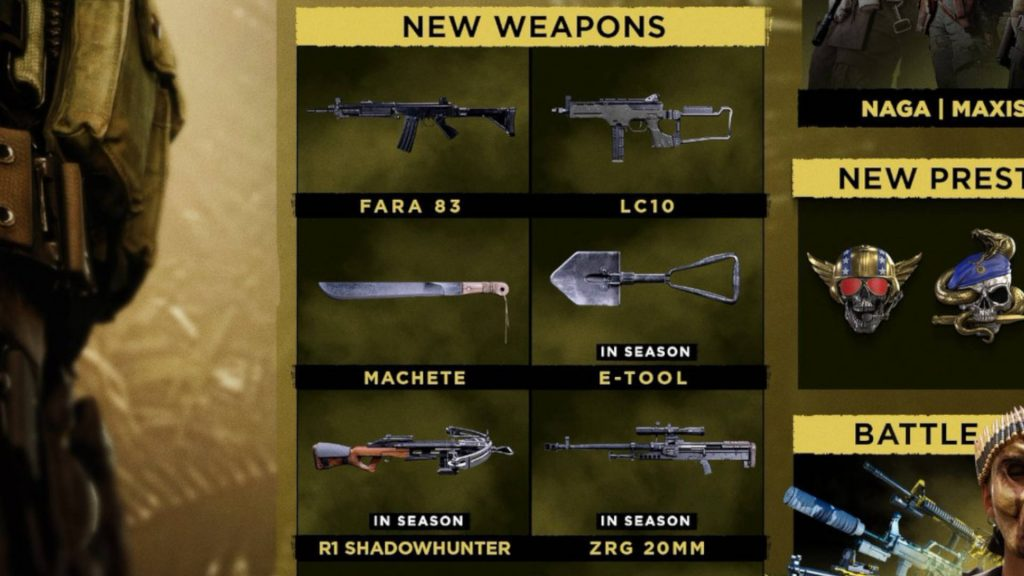 Cod warzone temporada 2 nuevas armas