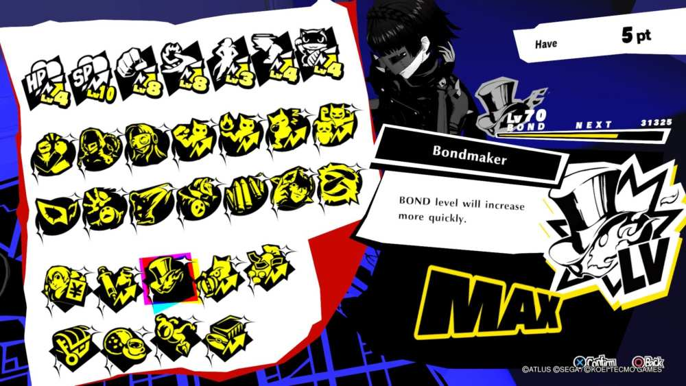 Habilidades de enlace mejoradas de Persona 5 Strikers