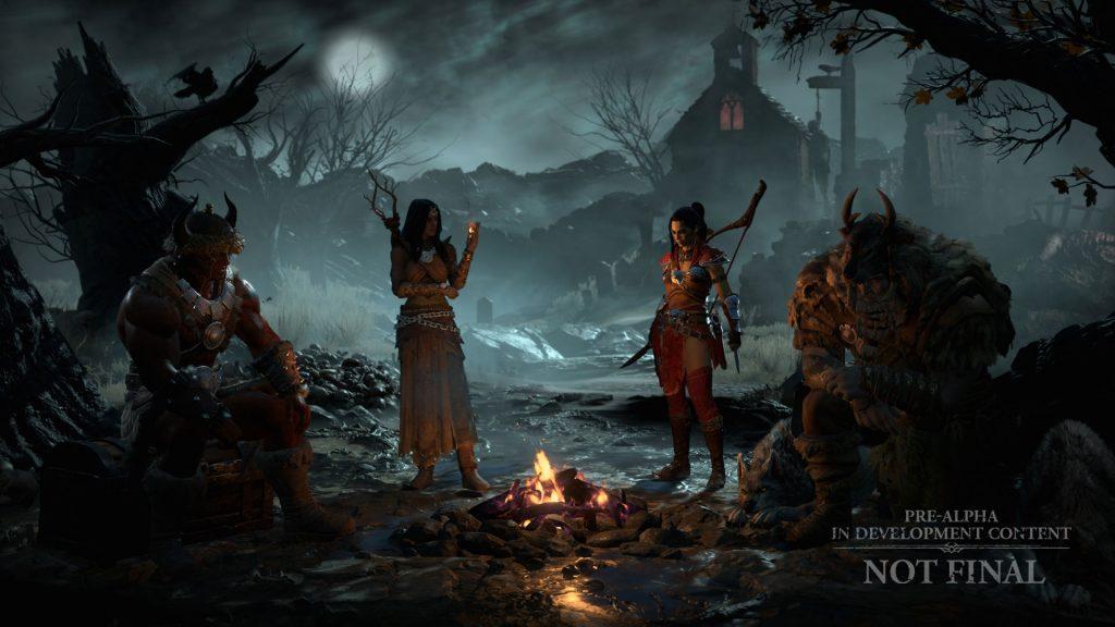 Fogata de Diablo 4 con cazadora