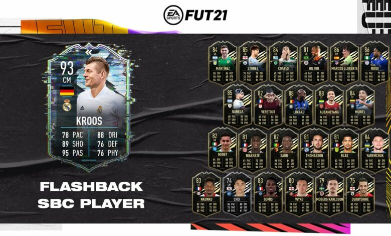 FIFA 21: Toni Kroos Flashback Era SBC - Requisitos y soluciones