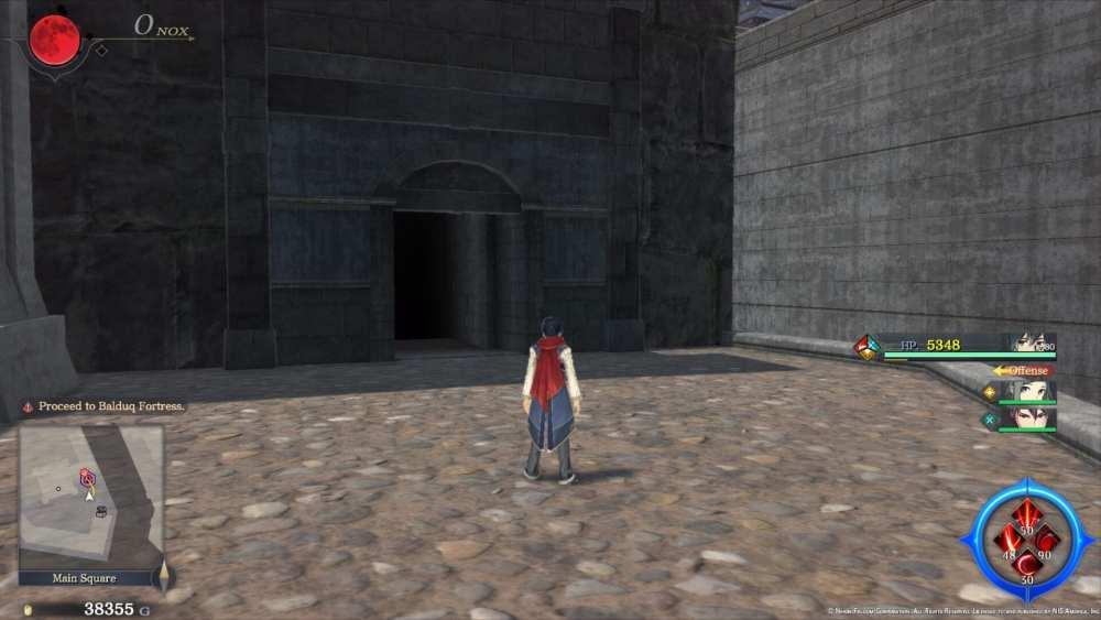 Área oculta del camino bloqueado Ys IX