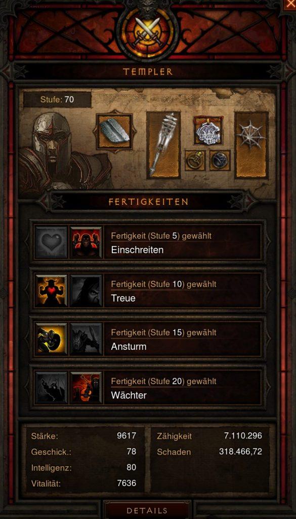 Inventario Templario de Diablo 3