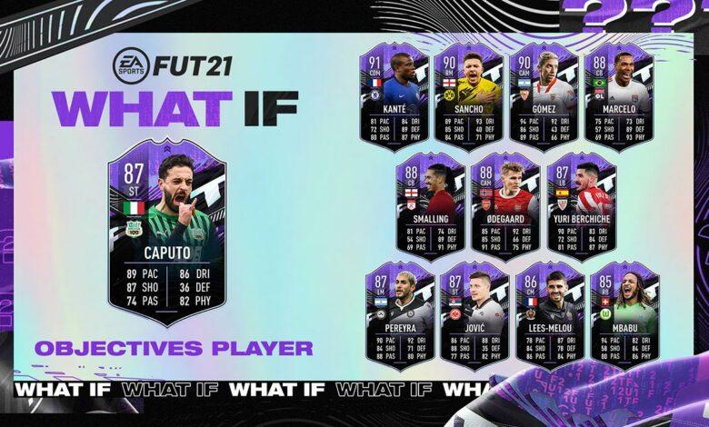 FIFA 21: Objetivos Francesco Caputo What If - Requisitos