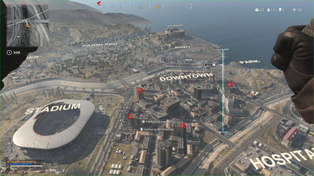 bacalao zona de guerra truco de aterrizaje platos de silla en el mapa