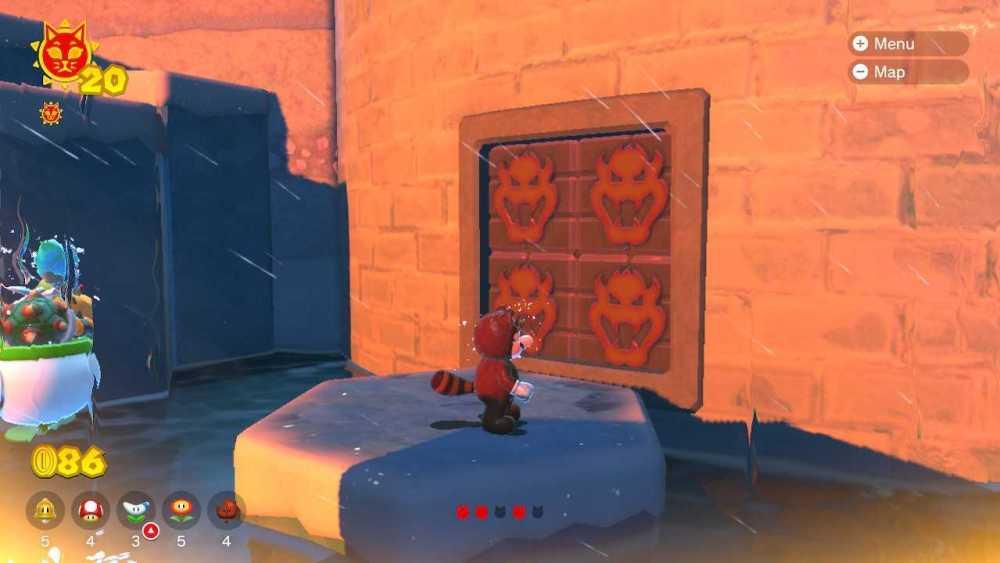 cómo destruir bloques de furia en la furia de bowser