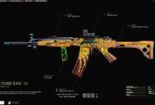 COD Black Ops Cold War - Cómo cambiar los colores en el plano reactivo Vulture Exo Fara 83