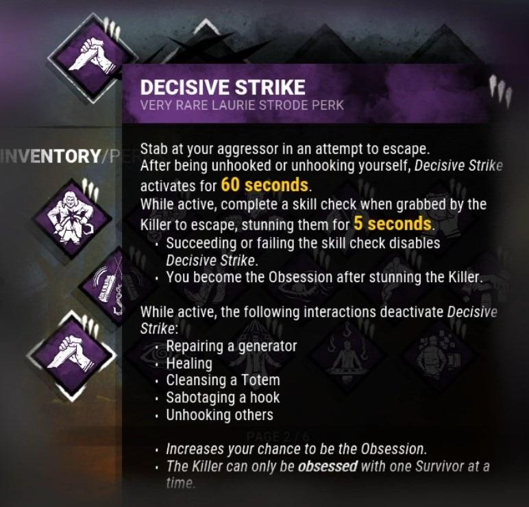 Dead by Daylight Decisive Strike Nerf