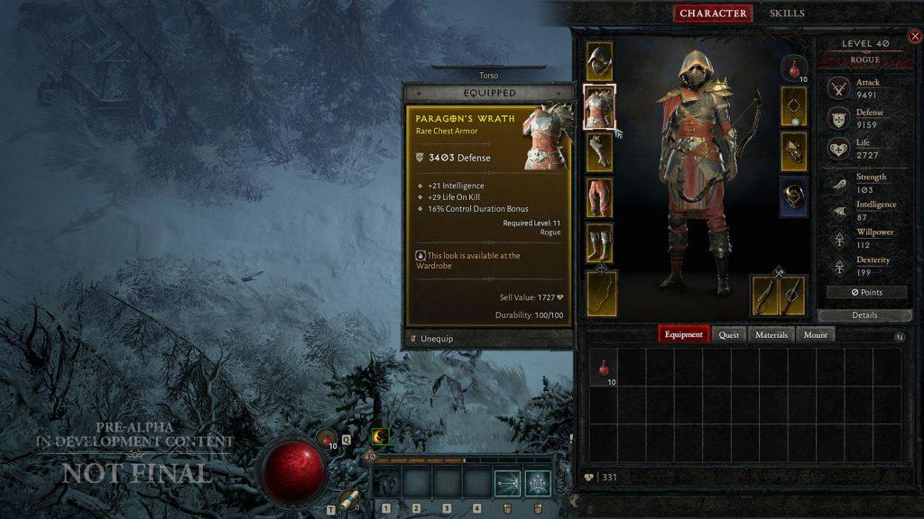 Inventario de Diablo 4 Huntress