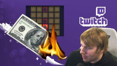 El streamer de Twitch pierde más de 7000 dólares en el casino en línea y luego roba por completo