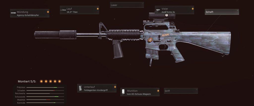 armas de la zona de guerra de bacalao m16 meta build