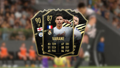 FIFA 21: TOTW 20 ya está en vivo, con el mejor defensor Varane