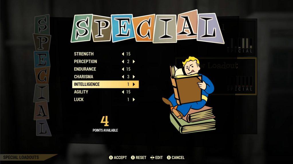 FAllout 76 cargas de beneficios especiales distribuidos