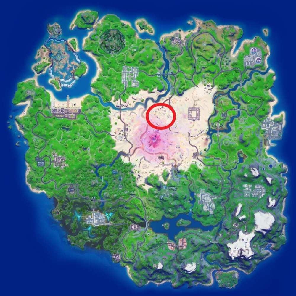 ubicaciones de árboles de cristal de fortnite