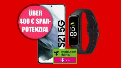 Galaxy S21 con tarifa LTE y rastreador de actividad física por 29,99 € al mes en MediaMarkt
