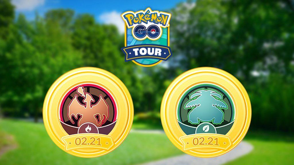 Pokémon GO Kanto Tour Rojo Verde Título