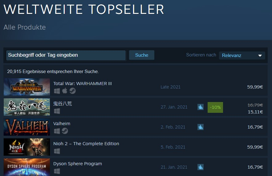 Producto más vendido de Steam Total War Warhammer 3