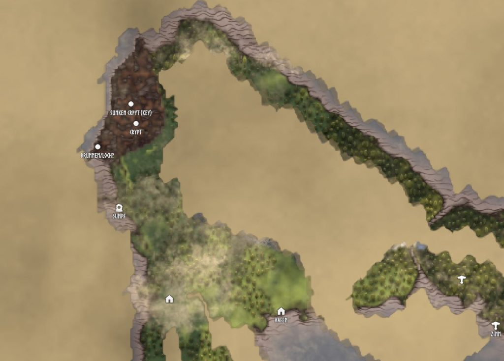 Mapa del pantano de Valheim