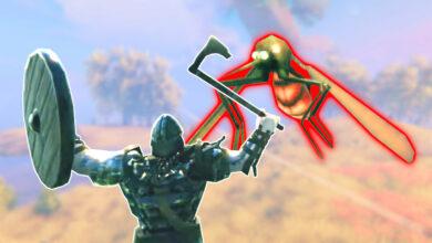Valiente vikingo en Valheim monta a uno de los oponentes más letales, inmediatamente se arrepiente