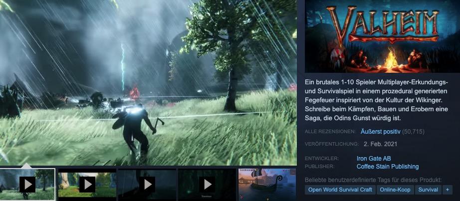 "Steam ""class ="" wp-image-650145 ""srcset ="" http://dlprivateserver.com/wp-content/uploads/2021/02/Valve-acusa-a-los-desarrolladores-de-Steam-por-tener-un.jpg 922w, https: //images.mein-mmo .de / medien / 2021/02 / Steam-Valheim -darstellung-300x131.jpg 300w, https://images.mein-mmo.de/medien/2021/02/Steam-Valheim-Darstellung-150x66.jpg 150w, https : //images.mein-mmo.de/medien/2021/02/Steam-Valheim-Darstellung-768x336.jpg 768w ""tamaños ="" (ancho máximo: 922px) 100vw, 922px ""> Ejemplo de un nombre de desarrollador en Steam : Mismo color, posición diferente a las reseñas      <div class='code-block code-block-3' style='margin: 8px 0; clear: both;'> <script async src="