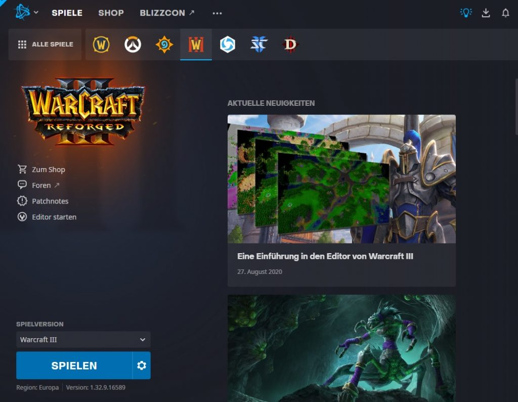 Battlenet Launcher Warcraft 3 noticias