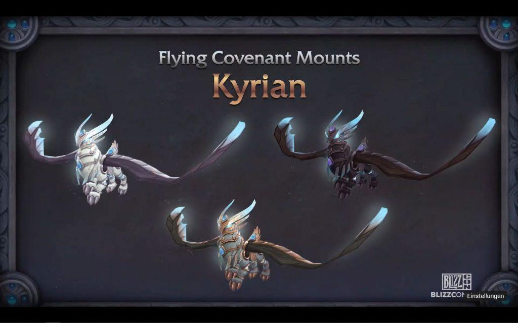 WoW Kyrian Mount