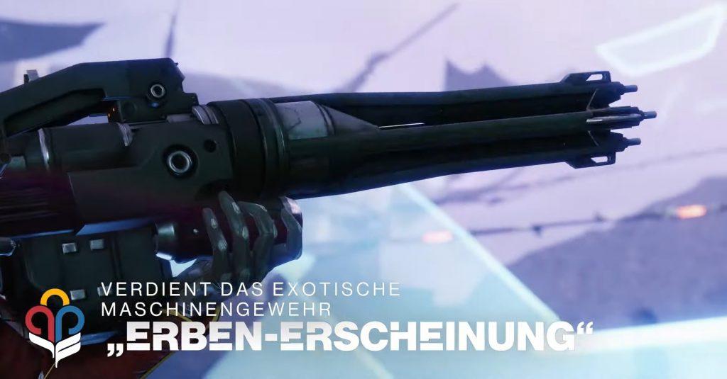Aparición del heredero de la ametralladora de Destiny 2