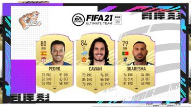 FIFA 21: Cavani, Pedro y Gotze agregados a la base de datos de FUT