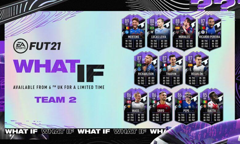 FIFA 21: What If - Team 2 anunciado para el nuevo evento