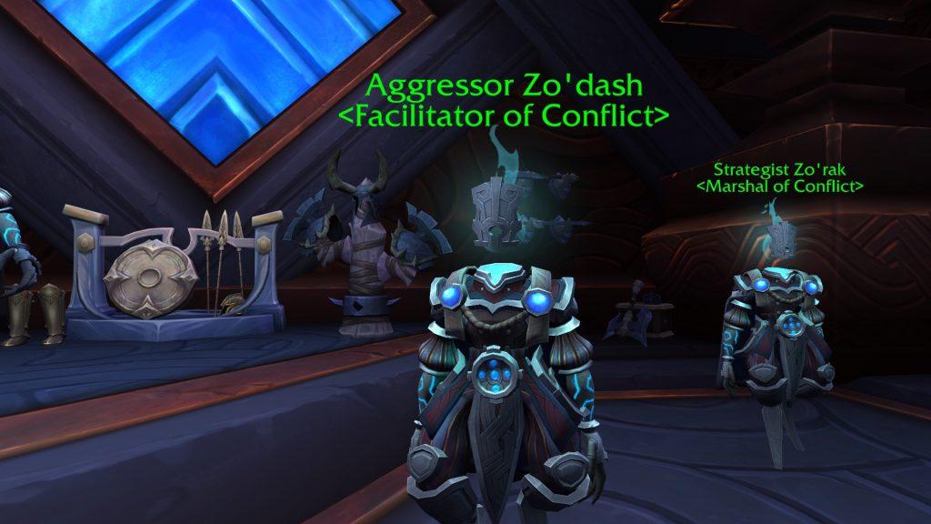 WoW Valor Point Trader Agresor Zodash
