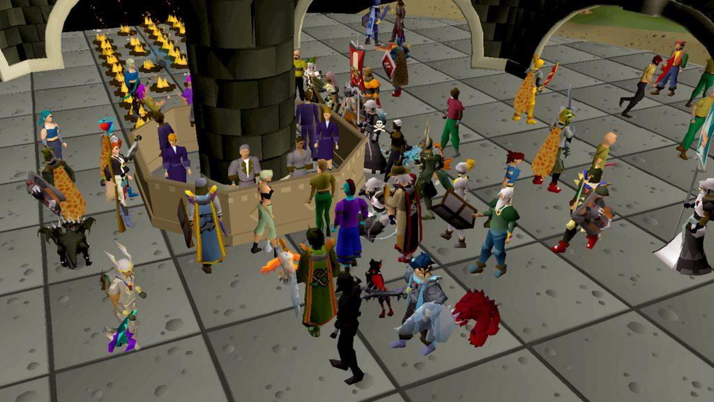 Oldschool RuneScape muchos jugadores