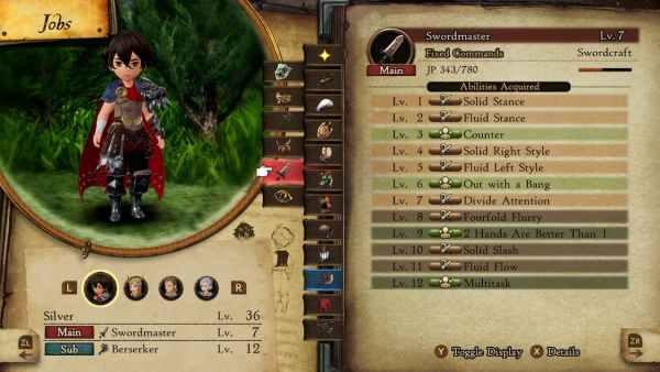 mejores combinaciones de habilidades pasivas en Bravely Default 2