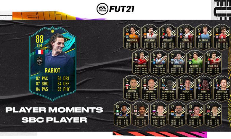 FIFA 21: SBC Adrien Rabiot Moments - Requisitos y soluciones