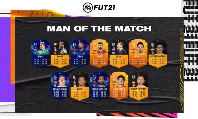 FIFA 21: MOTM - Nuevas cartas de Hombre del partido disponibles - 19 de marzo