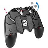 Controlador móvil YouFirst Pubg (Gamepad de 6 dedos / versión de actualización) COD Mobile Controller   Controlador Pubg   Gatillo móvil   Controlador de juego práctico
