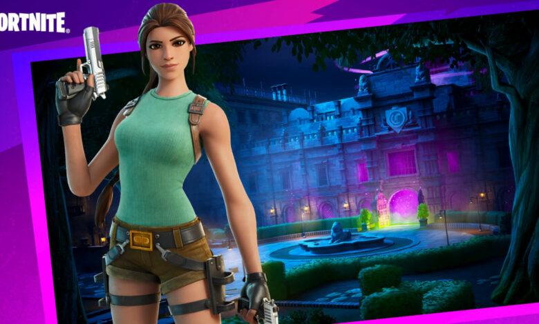 En el modo Lara Croft juegas Fortnite de manera completamente diferente a lo habitual