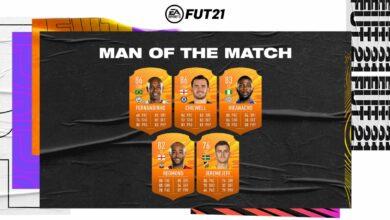 FIFA 21: MOTM - Disponibles las nuevas cartas Man of the Match del 27 de marzo