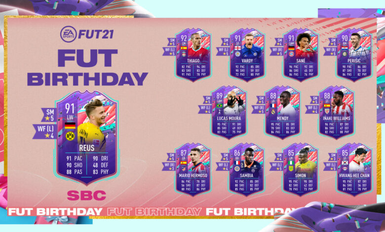 FIFA 21: SBC Marco Reus FUT Birthday - Requisitos y soluciones