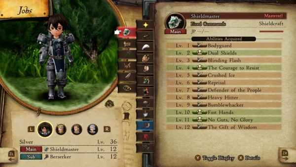mejores combinaciones de habilidades pasivas en Bravely Default 2.