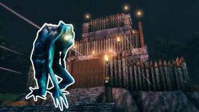 El jugador construye una cámara de tortura para monstruos molestos en Valheim.