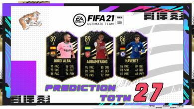 FIFA 21: TOTW 27 - Predicción del nuevo equipo de la semana