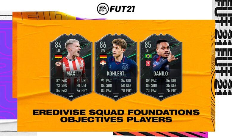 FIFA 21: objetivos de Kohlert, Max y Danilo - requisitos de Eredivisie Squad Foundations II
