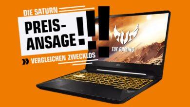 Laptop para juegos Asus con GeForce RTX 2060 reducida y más en Saturn