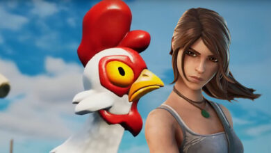 Los jugadores de Fortnite usan el truco del pollo para rotaciones fuertes y locas